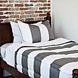 Grey Striped Beddy's Set