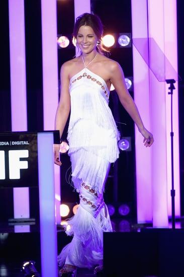 Kate Beckinsale White Fringe Dress Women in Film Awards 2016