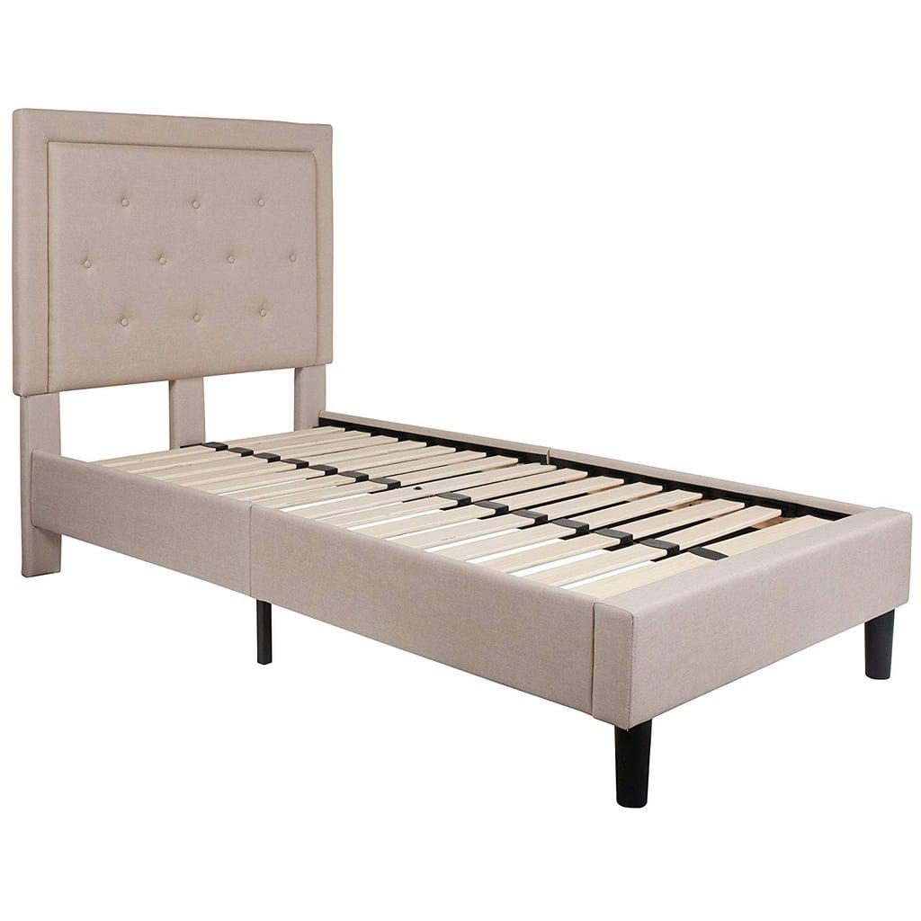 Flash Furniture Roxbury Tufted Upholstered Twin Size Platform Bed ...