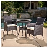 Parker Wicker Patio Bistro Seating Set With Cushions
