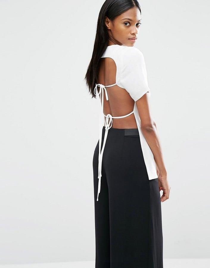 Lavish Alice Open Tie Back T-Shirt ($98)