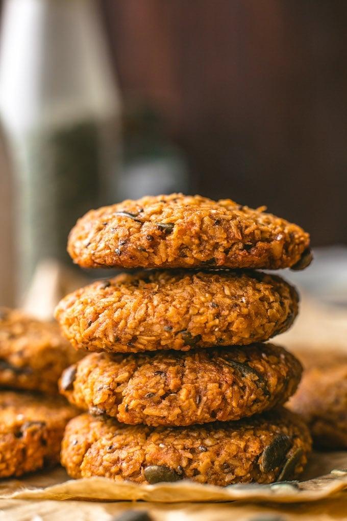 Sweet Potato Vegan Breakfast Cookies