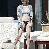 Diane Kruger on vacation in Mexico.