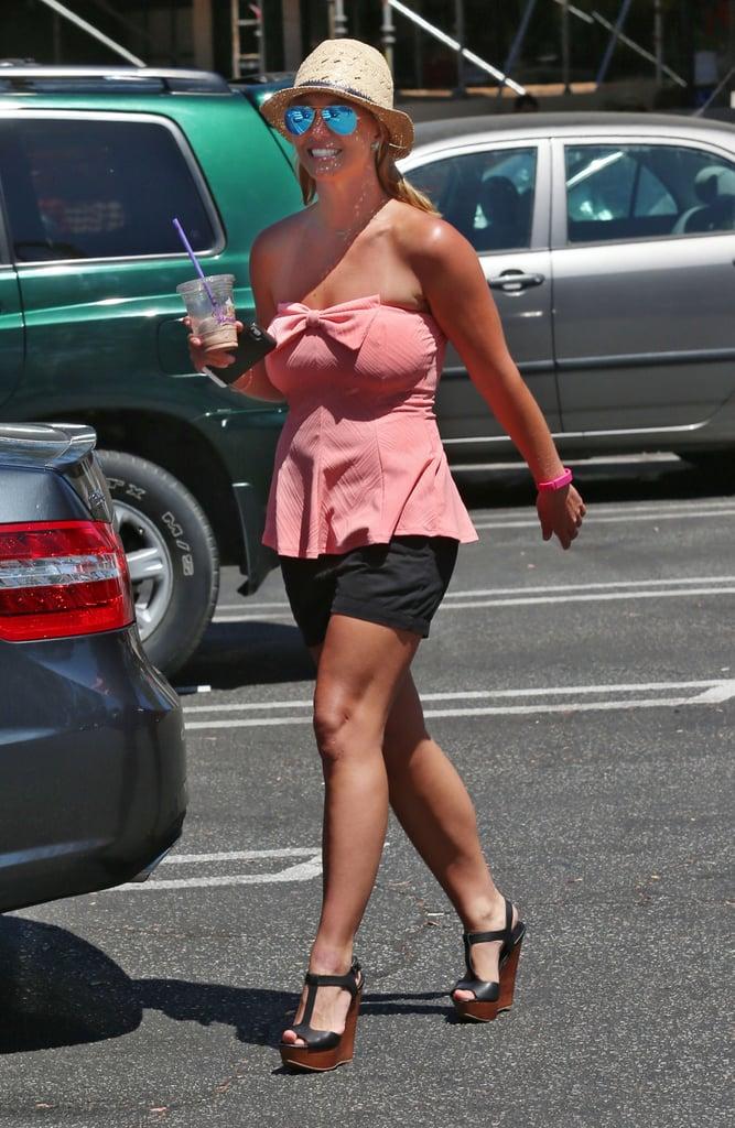 Britney Spears walked around LA on Tuesday.