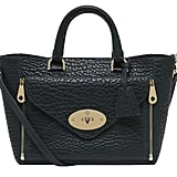 Small Willow Tote in Black and Gold with Ostrich (£2,000)