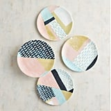 Geometric Modern Salad Plate Set