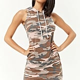 Forever 21 French Terry Hooded Camo Dress
