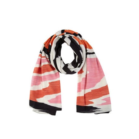 Intarsia Cashmere and Silk-Blend Scarf