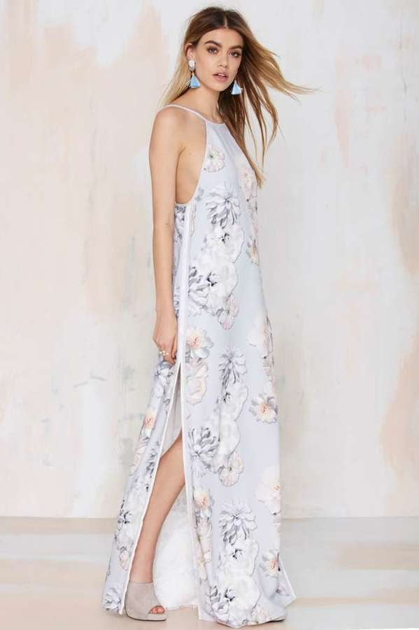 Finders Keepers Check the Rhyme Maxi Dress ($198)
