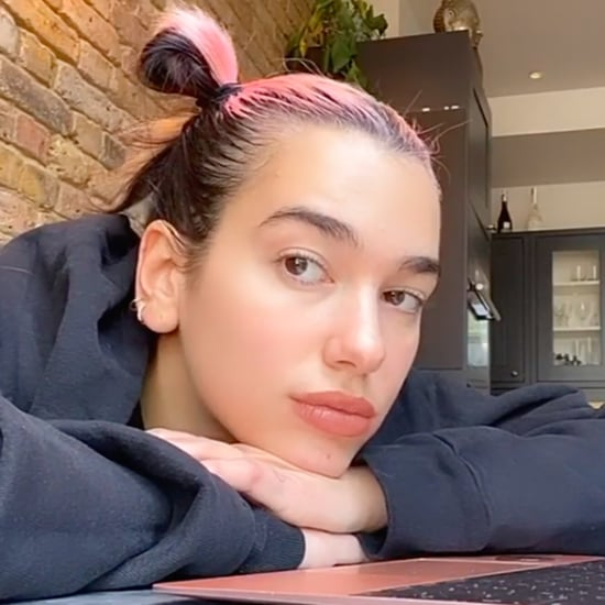 Dua Lipa Dyed Her Hair Pink With Help From Anwar Hadid
