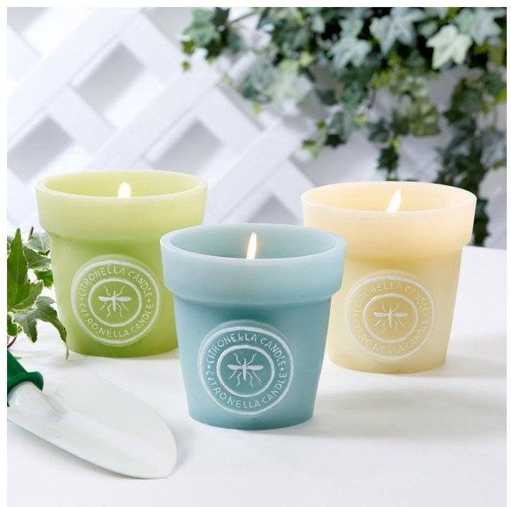 Flower Pot Citronella Candle Set ($45)