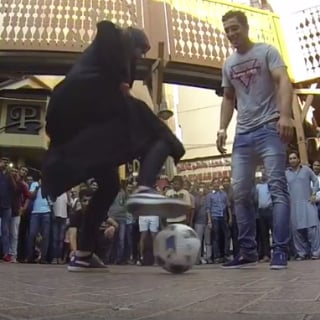 VIDEO: Woman in Abaya Challenges FC Dubai Soccer Players