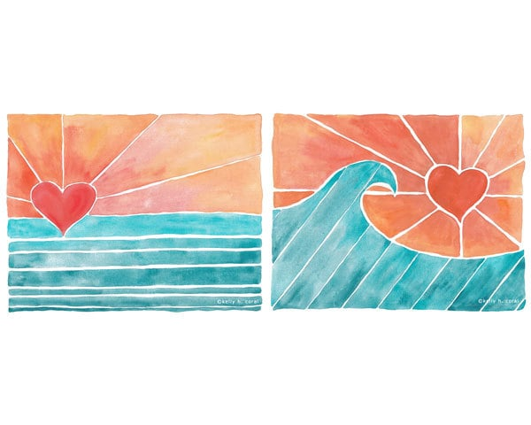 Your lil beach lover will appreciate this sunny surf art ($34 for two).