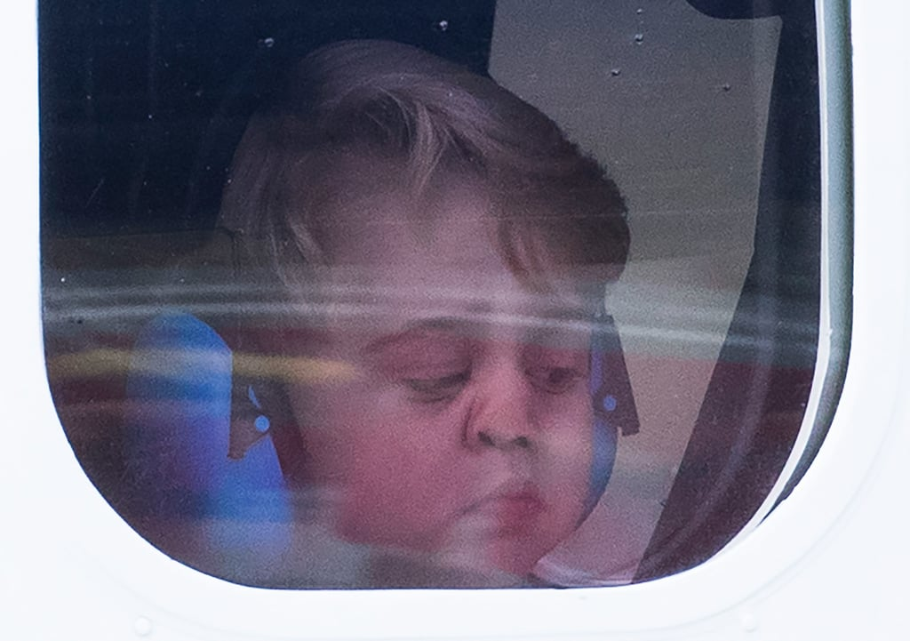 When He Smushed His Little Face Up Against This Plane Window