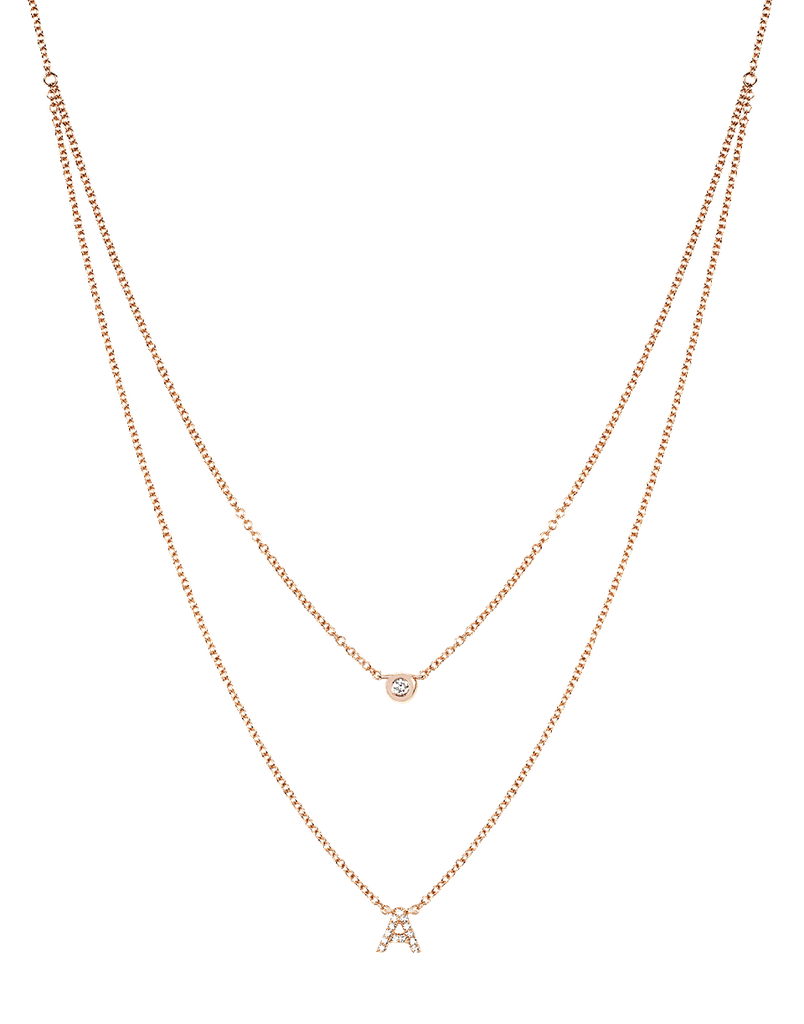 Marissa Collections EF Collection Diamond Initial Choker Necklace