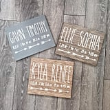 Birth Announcement Wood Sign Wall Art