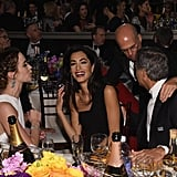 Emily Blunt and Amal Almuddin shared a laugh during the show.