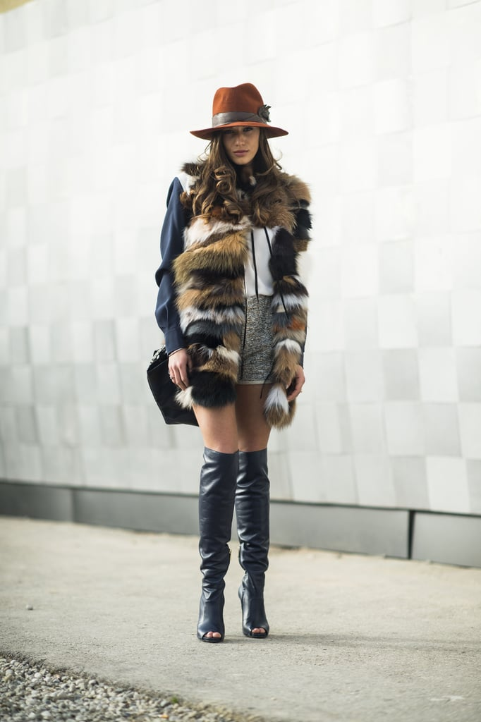 We never met a furry vest or a pair of over-the-knee boots we didn't like.  Source: Le 21ème | Adam Katz Sinding