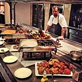 Diddy tweeted a photo of his massive Christmas dinner. Source: Instagram user iamdiddy