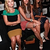 Jordana Brewster, Elisha Cuthbert and Louise Row waited for the BCBG Max Azria show to begin.