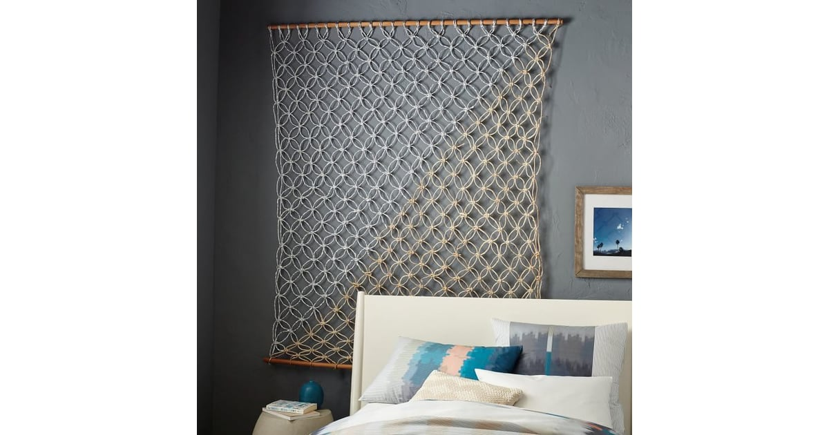 Metallic Macrame Wall Hanging ($129) | Shop Woven Wall Hangings | POPSUGAR  Home Photo 11
