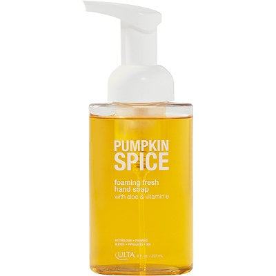Kitchen chores become more fun with a sweet and spicy hand wash. This one has soothing aloe and nourishing vitamin E so you get skin care benefits in addition to a whiff of pie. Ulta Pumpkin Spice Moisture Cleanse Hand Soap ($6)