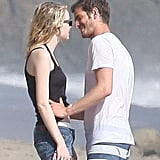 Andrew Garfield went in for a kiss on Emma Stone.