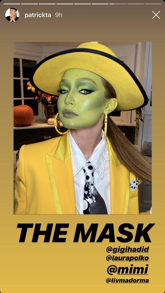 Gigi Hadid's The Mask Halloween Makeup