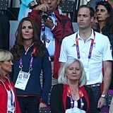 Kate Middleton and Prince William Get Casual For Olympic Track Finals