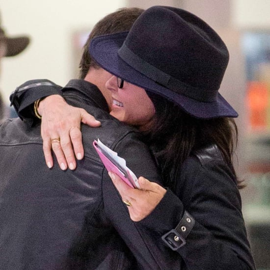 Courteney Cox and Johnny McDaid Kissing April 2016