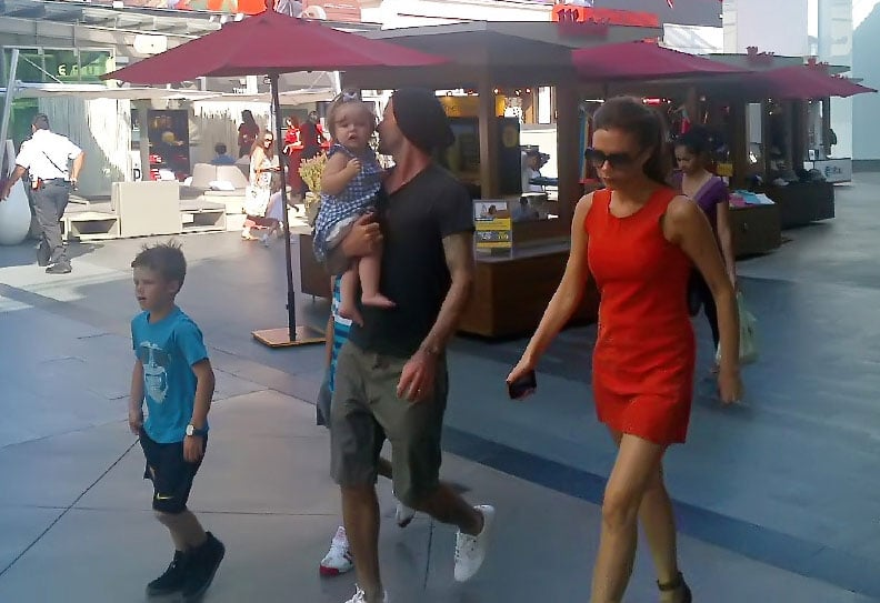 Victoria and David Beckham Share a Stylish Shopping Day With the Kids