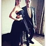 Jessica Biel posed with Giambattista Valli before heading to the Met Gala. Source: Jessica Biel on WhoSay