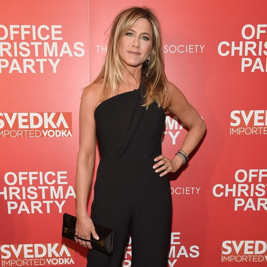 Jennifer Aniston Brandon Maxwell Jumpsuit 2016