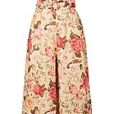 Zimmermann Honour Strapless Floral-Print Linen Jumpsuit