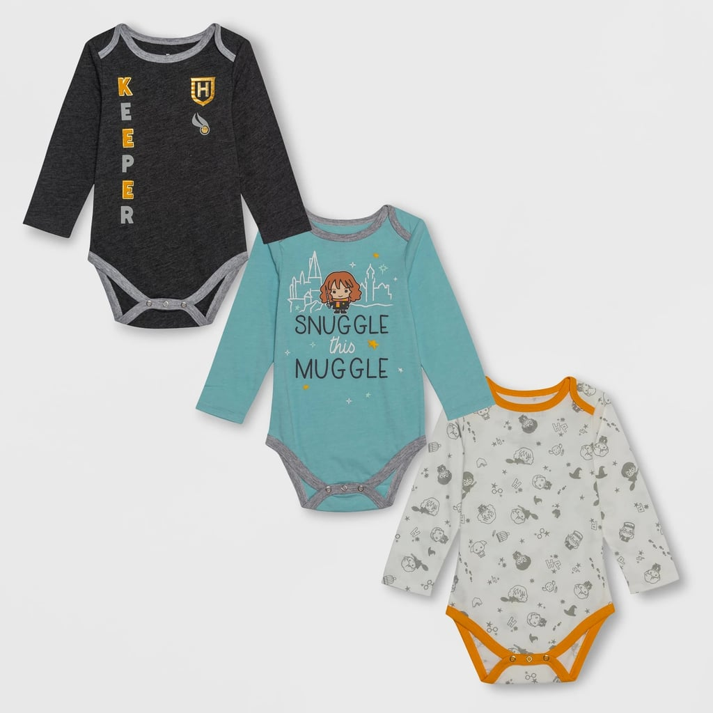Baby Harry Potter 3-Pack Long-Sleeved Bodysuits