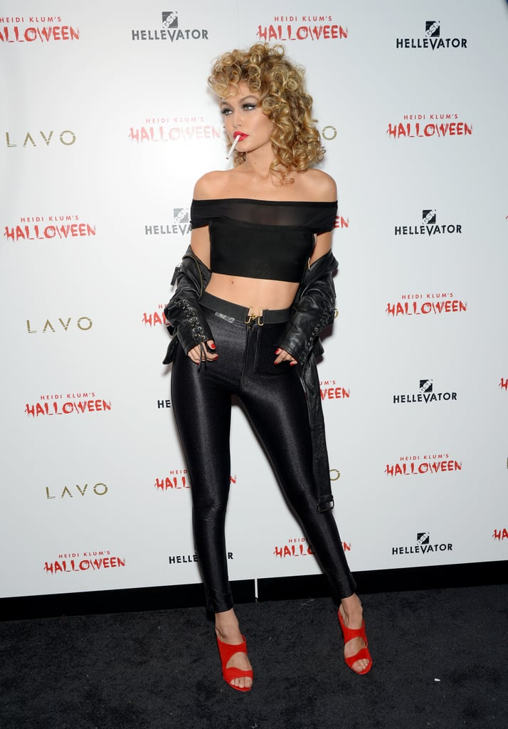 gigi hadids sandy from grease costume popsugar fashion - Greece Halloween Costumes