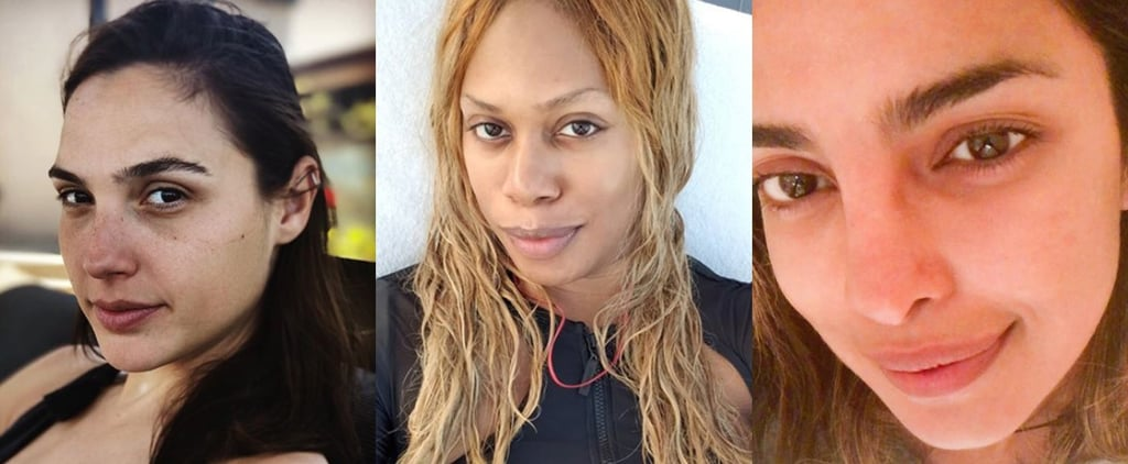 Empowering No-Makeup Selfies From Celebrities