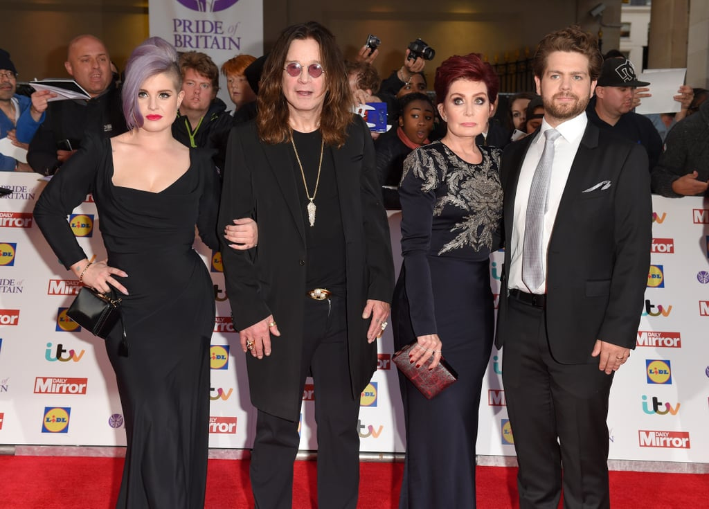 The Osbourne Family at the Pride of Britain Awards 2015