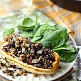 Wild Rice, Lentil, and Cranberry-Stuffed Delicata Squash