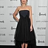 Marion Cotillard in Black Strapless Dior Dress