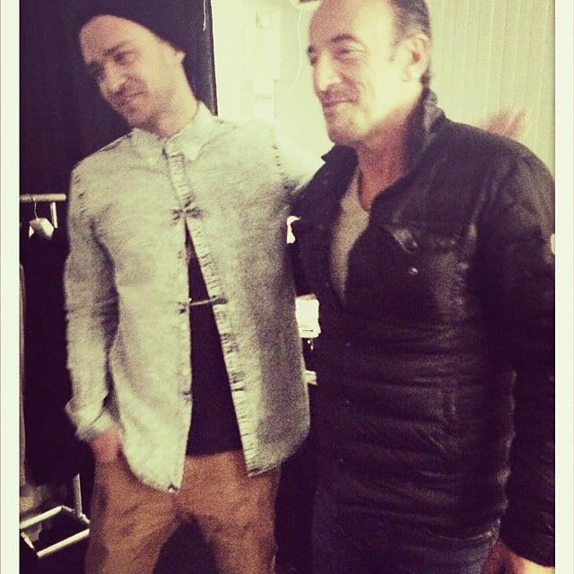 """Justin Timberlake freaked out about meeting his """"idol"""" Bruce Springsteen. Source: Instagram user justintimberlake"""