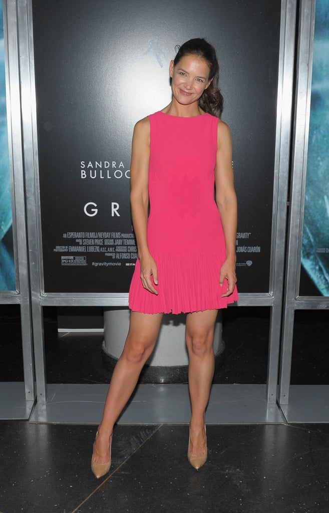 Katie Holmes was one of a few famous faces at the premiere.