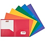 Jam Paper Heavy-Duty Plastic 2-Pocket School Folders