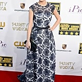 Brie Larson arrived at the Critics' Choice Awards.