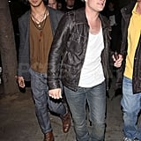 Josh Hutcherson showed up to the party with a friend.