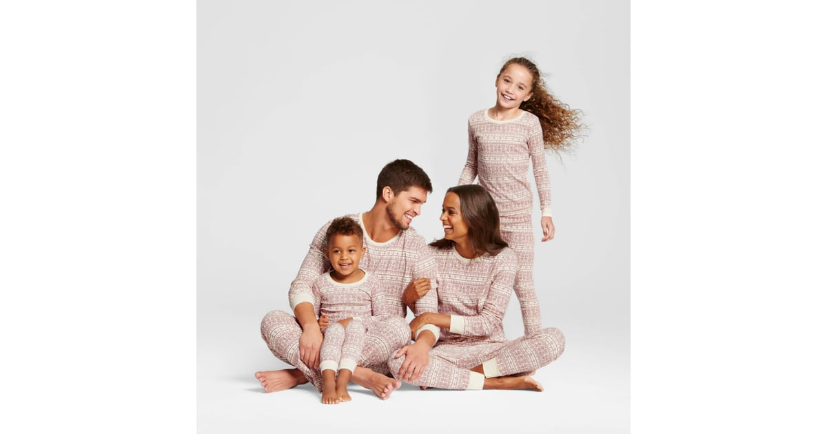 burts bees organic cotton fair isle family pajamas collection matching family christmas pajamas popsugar family photo 1