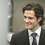 In 2008, Prince Carl Philip of Sweden wore a dapper suit while he was in Belgium.