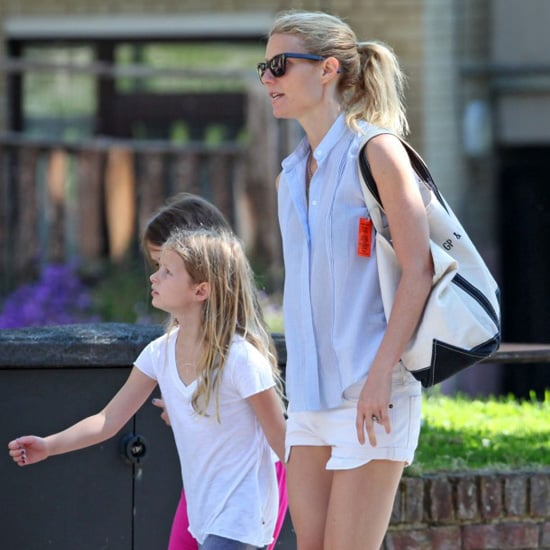 Gwyneth Paltrow White Denim Shorts