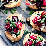 Cranberry Goat Cheese Gluten-Free Crostini