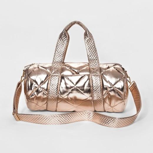 Mossimo Duffel Bag, Rose Gold